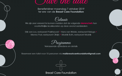 Benefietavond Breast Care Foundation | maandag 7 oktober 2019